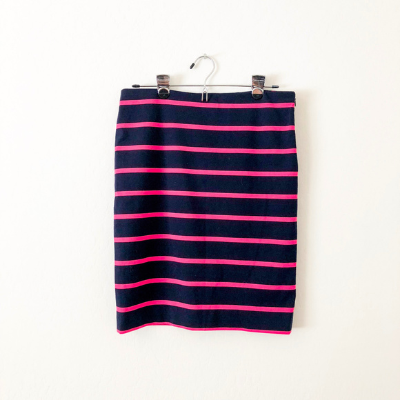 The Limited Dresses & Skirts - The Limited Navy Blue and Pink Striped Skirt